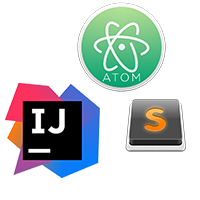 Atom (IDE), IntelliJ Idea, Sublime Text