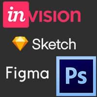 Photoshop-Figma-InVision-Sketch